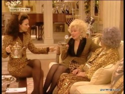 Fran Drescher---hot legs--dark Nylons--sexy--Retro--The Nanny--1998